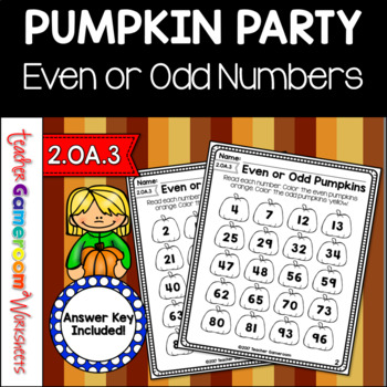 Even or Odd Pumpkin Worksheets
