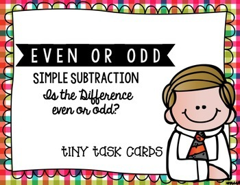 Even or Odd Simple Subtraction (Differences less than 10):  Edition 1