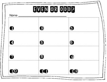 Even or Odd Up to 4 Digit Numbers Tiny Task Cards