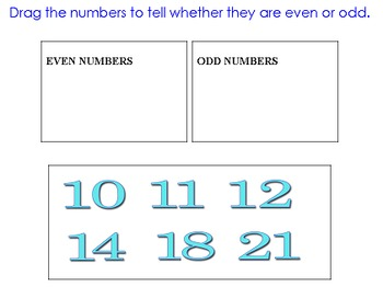 Even or Odd? with Drag and Drop: 2nd Grade Freebie! (2.OA.C.3)