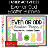 Even or Odd Easter Peeps - Teacher vs Student Powerpoint Game