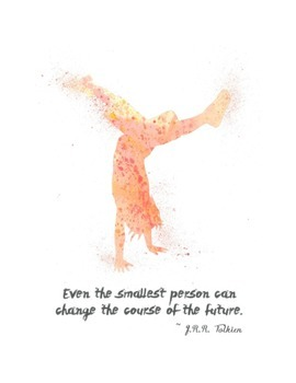 Even the Smallest Person: JRR Tolkein Quote Poster -- Warm Colors