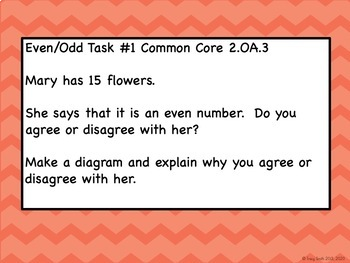 Even/Odd Tasks - Common Core 2.OA.3 - Easy to Use!