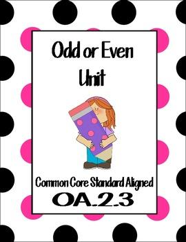 Even/Odd Unit for 2nd Grade Common Core Aligned