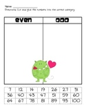 Even/Odd valentine monster activity