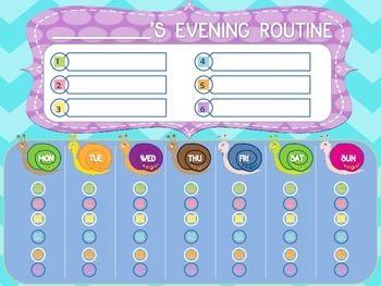 Evening Routine Chart