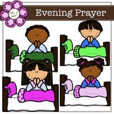 Evening prayer digital Clipart (color and black&white)