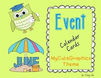 Event Calendar Cards (English)