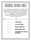 Event Sign-Up Sheet
