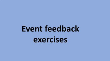 Event feedback exercises