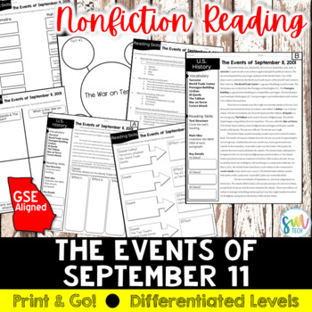 Events & Impacts of September 11, 2001 Reading & Writing (SS5H7, SS5H7b)