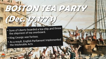 Events Leading The American Revolution Powerpoint