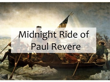 Events Leading Up to the American Revolution and Paul Revere's Ride
