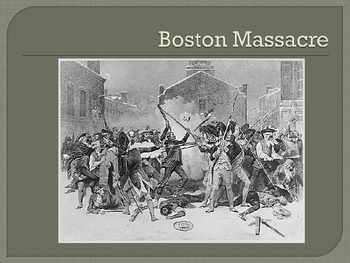 Events Leading Up to the American Revolution corresponds with CScope