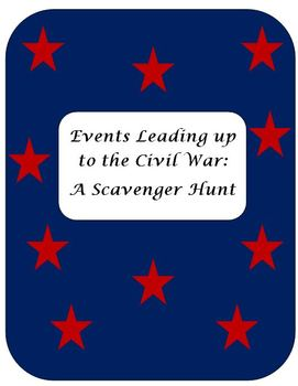 Events Leading Up to the Civil War – A Scavenger Hunt
