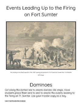 Events Leading Up to the Firing on Fort Sumter-Domino TimeLine