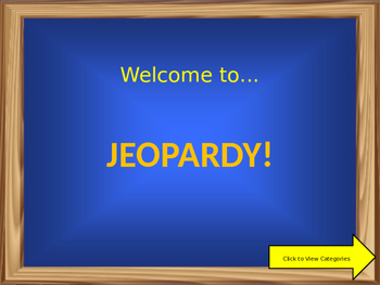 Events Leading to the American Revolution Jeopardy with Sound