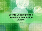 Events Leading to the American Revolution PowerPoint
