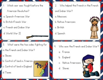 Events Leading to the American Revolution Task Cards