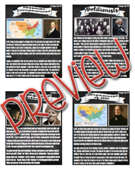 Events Leading to the Civil War Fact Cards