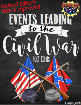 events leading to the civil war fact cards by history girl tpt. Black Bedroom Furniture Sets. Home Design Ideas