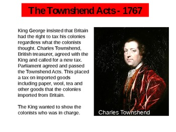 Events Leading to the Revolutionary War