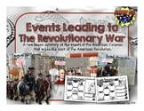 Events Leading to the Revolutionary War PowerPoint and Student Infographic Notes