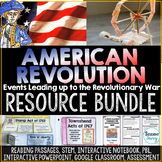 Events Leading to the Revolutionary War Activities Bundle