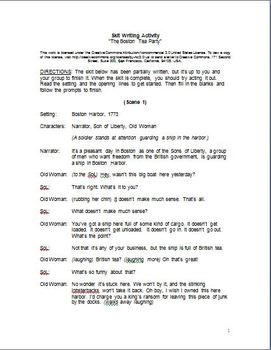 how to write a skit script