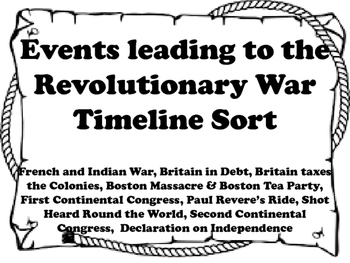 image regarding Revolutionary War Timeline Printable named Innovative War Timeline Worksheets Education Products TpT