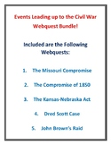 Events Leading up to the Civil War 5 Webquest Bundle (With Answer Keys!)