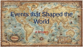 Events That Changed the World Research Project