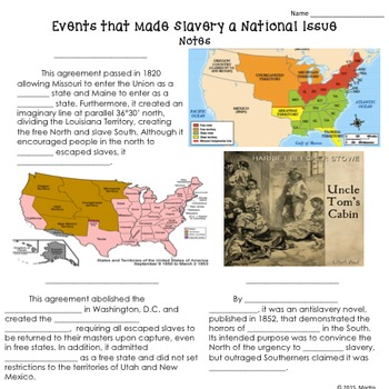 Events That Made Slavery a National Issue