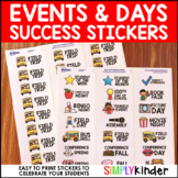 Events and Day Success Stickers