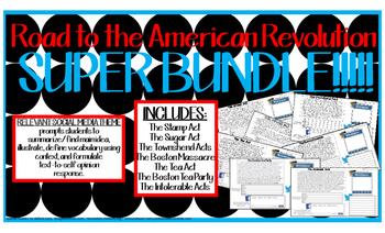 American Revolution Events BUNDLE