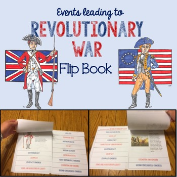 Events leading up to the American Revolution Flip Book