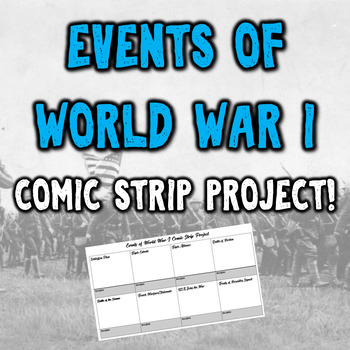 Events of World War I Comic Strip Project