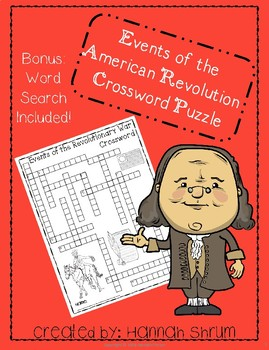 Events of the American Revolution Crossword Puzzle
