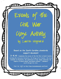Events of the Civil War Cloze Activity