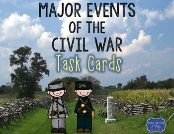 Events of the Civil War Task Cards