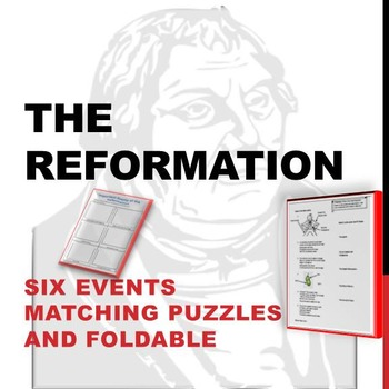 Events of the Reformation Puzzles and Foldable