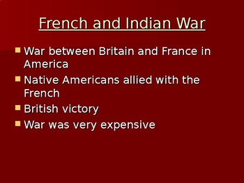 Events of the Revolutionary War