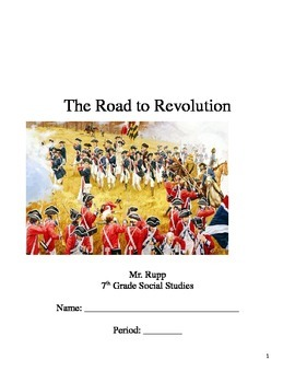 Events that Caused the Revolution Guided Notes