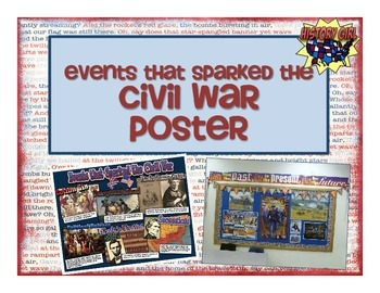 Events that Sparked the Civil War Poster