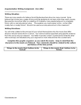 Ever After Movie Writing Assignment