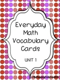 Everday Math Common Core Grade 5 Unit 1 Math Vocab