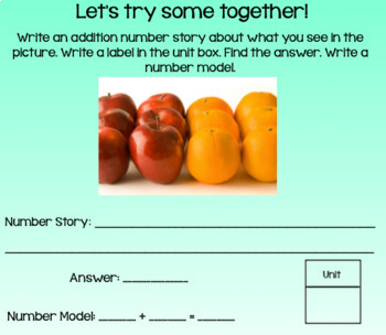 Everday Math Lesson 2-2: Addition Number Stories