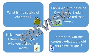 Everest Book One: The Contest- Task Cards for reading comp
