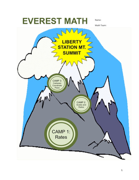 Everest Math Curriculum - Ratios/Rates, Scaling, Graphing Unit