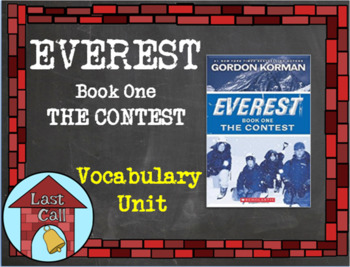 Everest: the Contest Vocabulary Unit